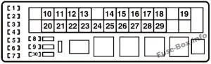 Fuse Box Diagram > Lexus IS250  IS350 (XE20; 20062013)