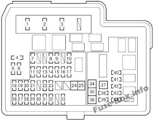 Fuse Box Diagram > Toyota Yaris Hybrid  Echo Hybrid '12'17