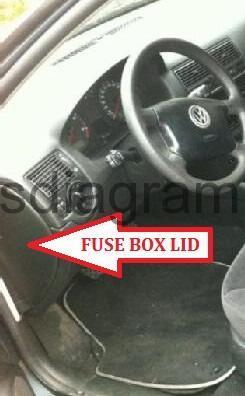 Fuse box Volkswagen Golf 4