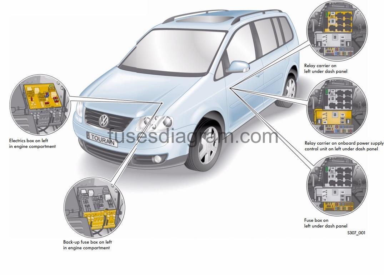 [WRG0526] Volkswagen Touran Wiring Diagram