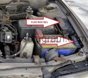Fuse box Toyota Corolla E100