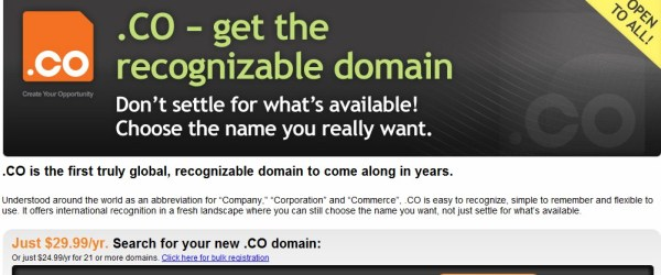 Godaddy .CO marketing blitz