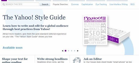 Yahoo! Style Guide