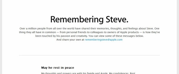 Remembering Steve Jobs official site