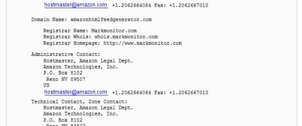 Amazon HTML Feed generator