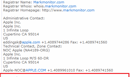 Apple.com Whois