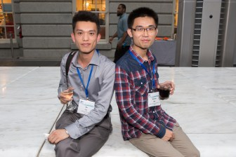 Bo Liu and Xianbin Wu at the F15 Cocktail