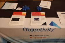Goodies at the Objectivity booth