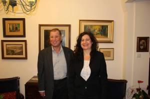Mayor Ron Nachman and Tom Tamarkin