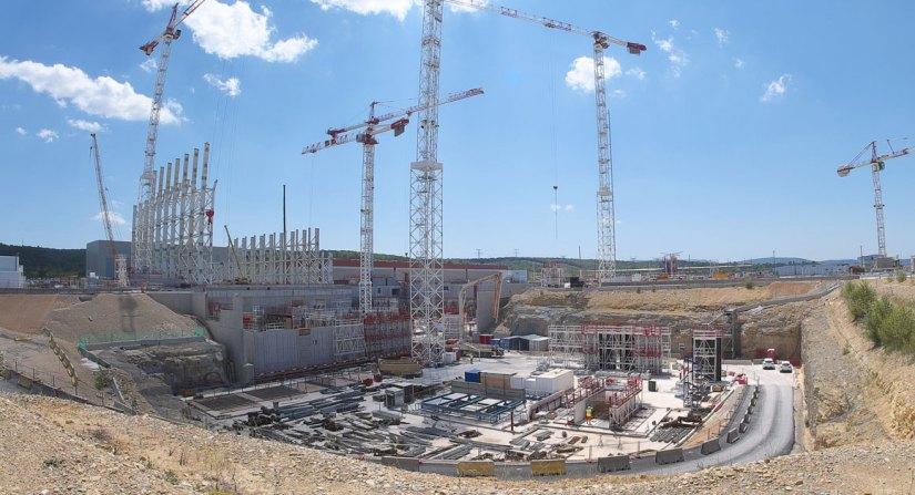 Frankreich Baustelle ITER Reaktor in Saint-Paul-les-Durance