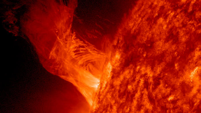 Solar Eruption Rises Above Sun