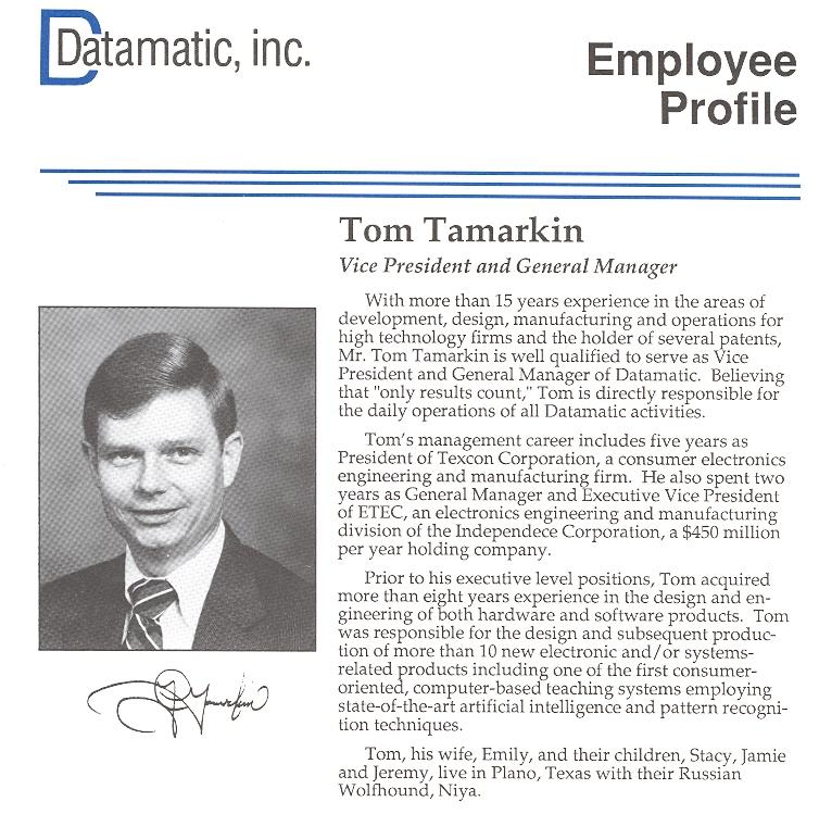 Datamatic Employee profile
