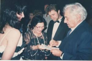 Amalia Ishak, Amalia's mother and Leonard Bernstein