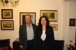 Amalia Ishak and Mayor Ron Nachman of Ariel