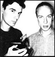 Davidy Byrne and Brian Eno polaroid