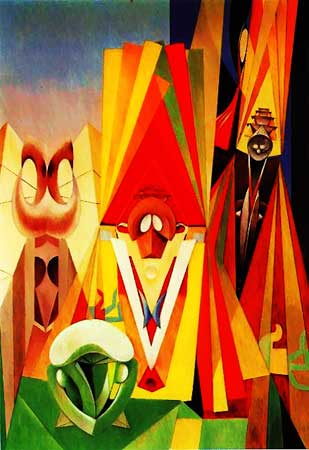 the good art - Max Ernst - Feast Of The Gods (1948)