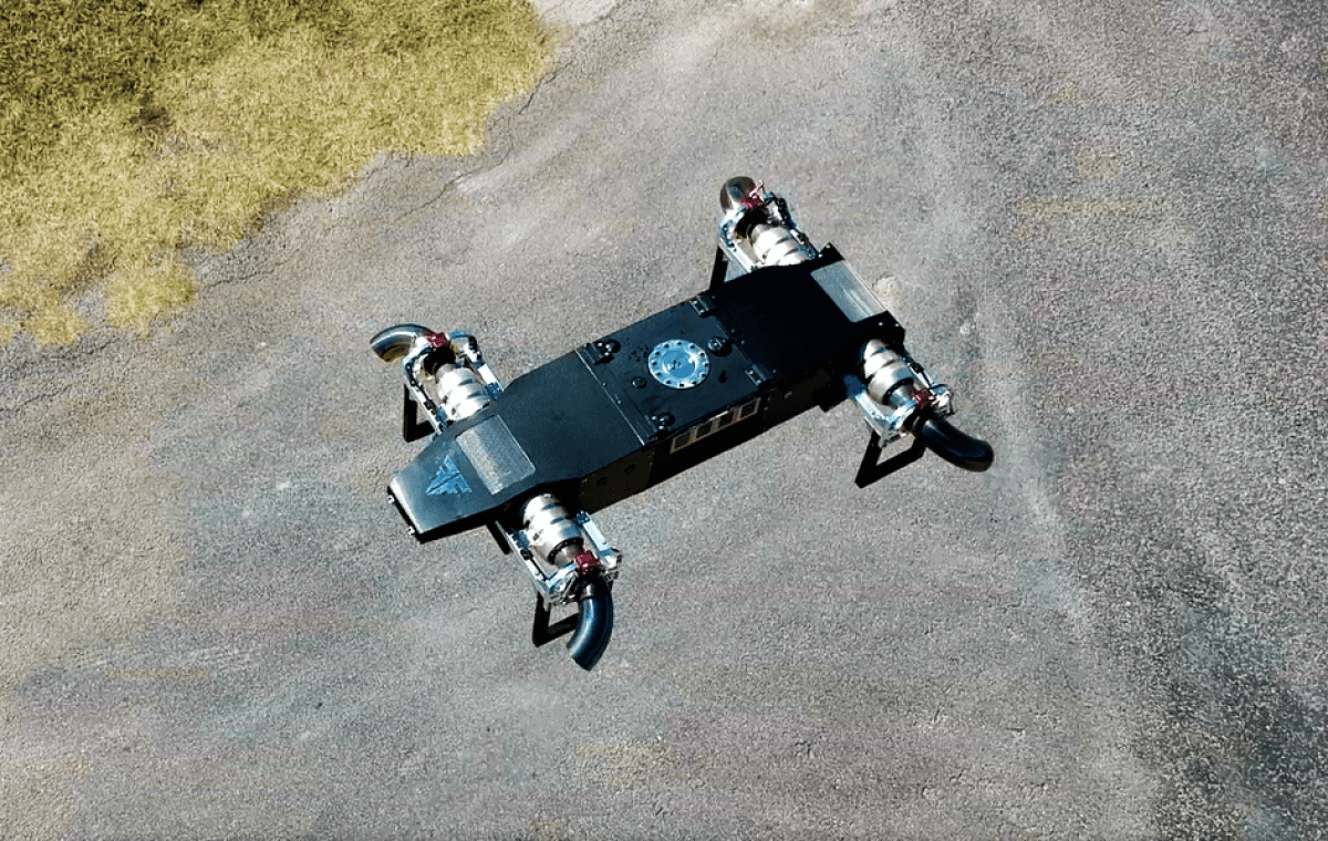 FusionFlight AB5 JetQuad - Quad Jet-Engine VTOL Drone