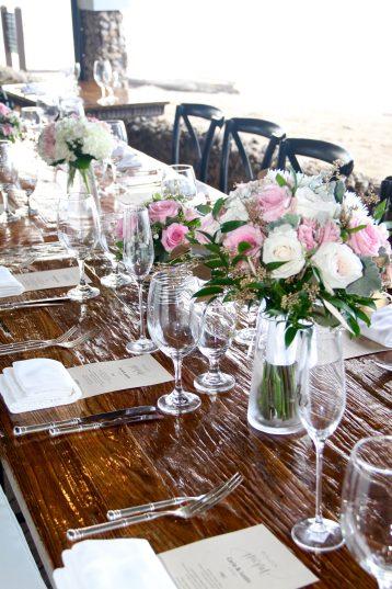 blush & white wedding bouquet