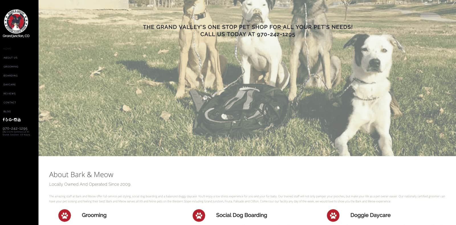 Dog and Cat Boarding Company Website Design