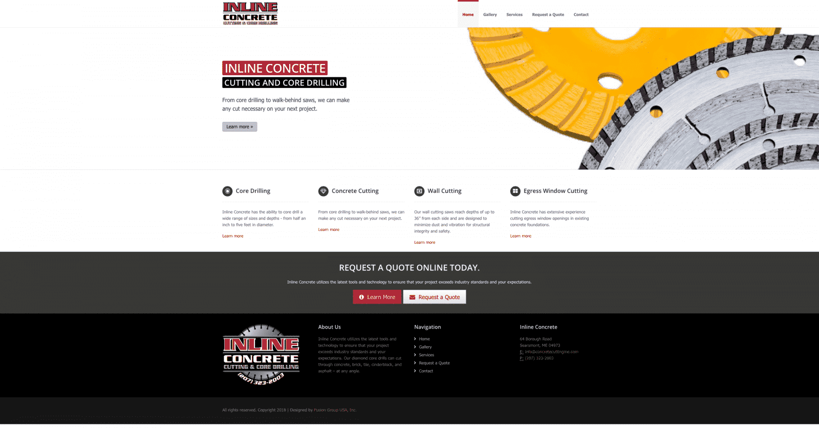 Diamond Tool and Construction Website Design