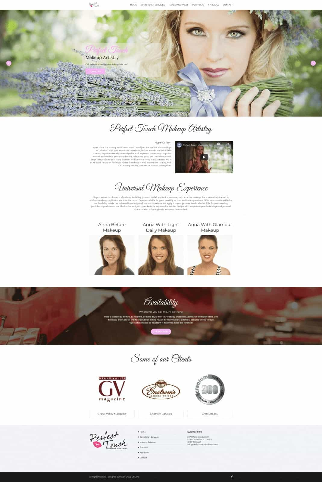 Beauty and Makeup Website Design