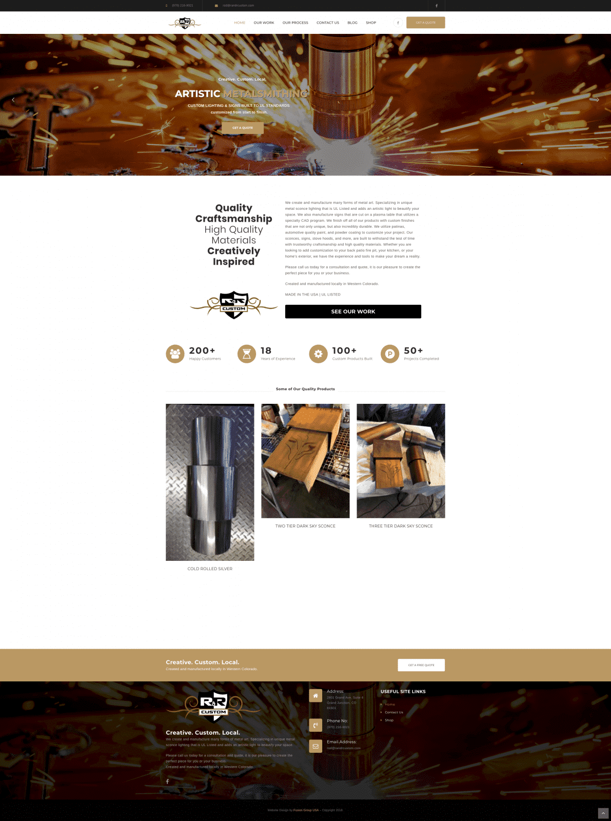Custom Welding Website Design