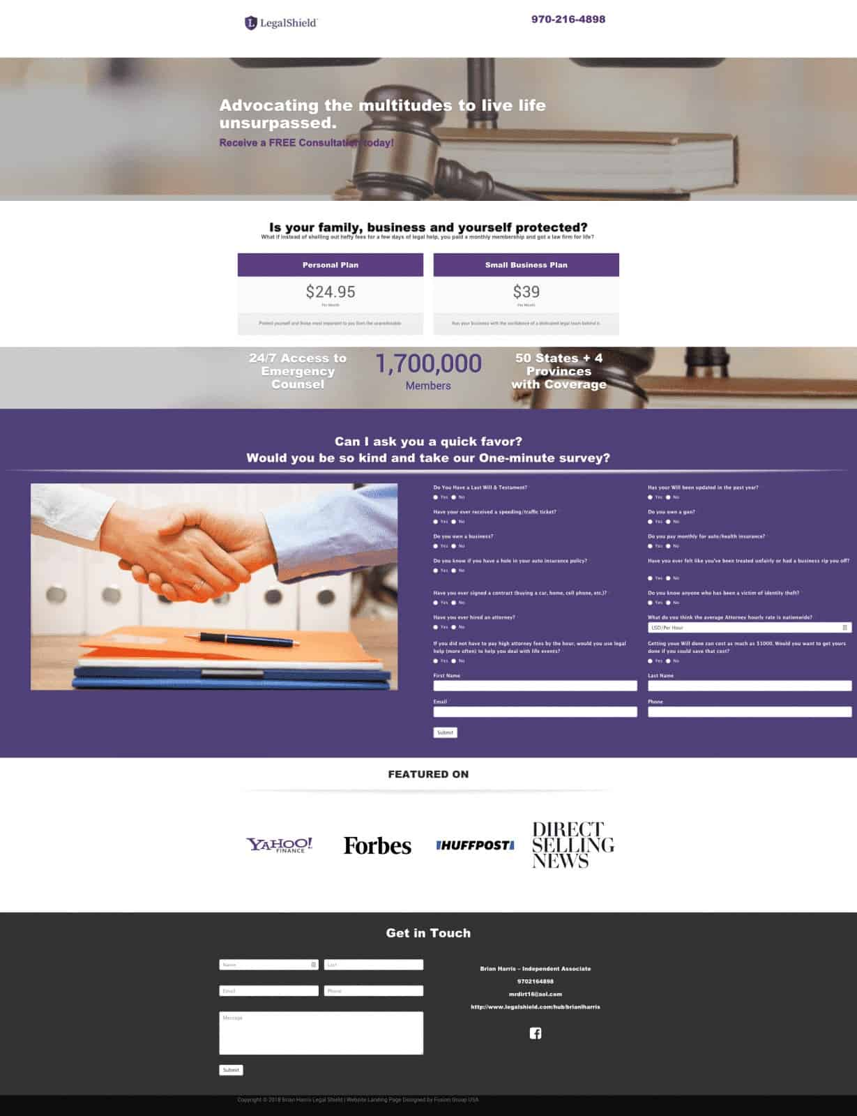 Legal Attorney Website Design