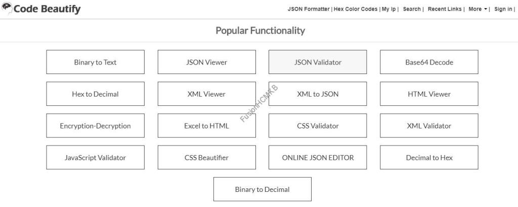 code beautify site to convert to multiple formats