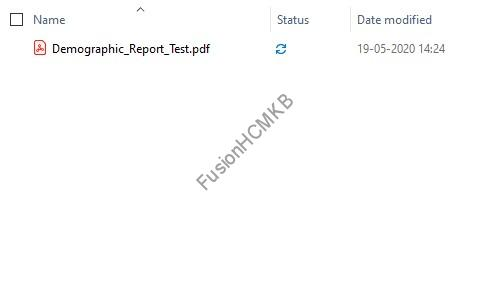 Default output of BI Report in bi publisher fusion hcm