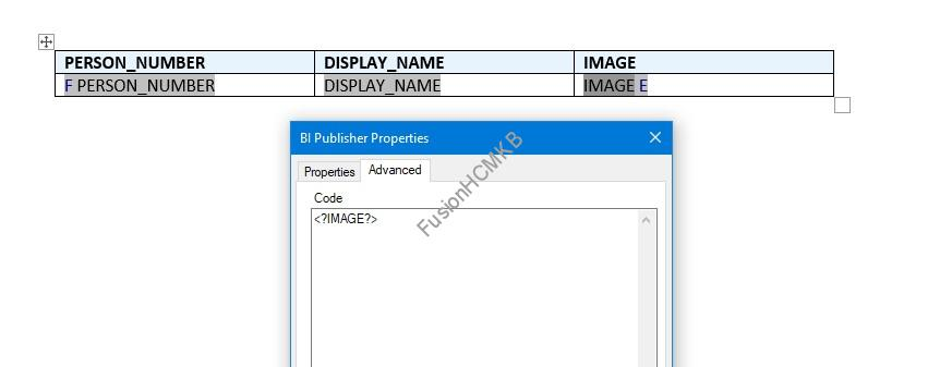 Default tag for Image field will be <?IMAGE?> PER_IMAGES fusion hcm images extract