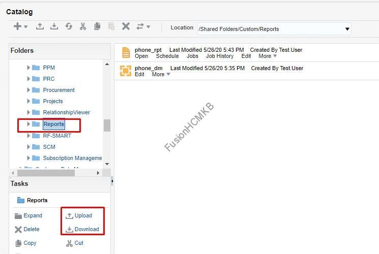 XMLP server archive options in fusion hcm bi publisher