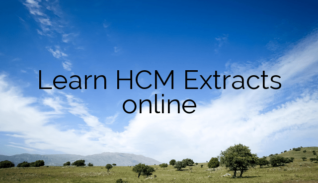 Learn HCM Extracts online