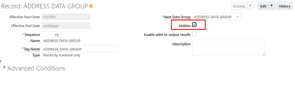 Make the records Hidden for Hierarchy Traversal and Records in Child DGs