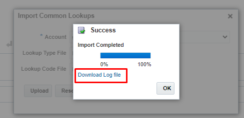 Download log file to check any errors