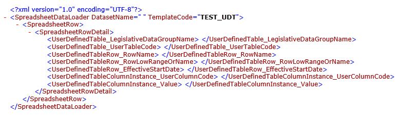 HDL Transformation Formula using HSDL Template for UDT Load