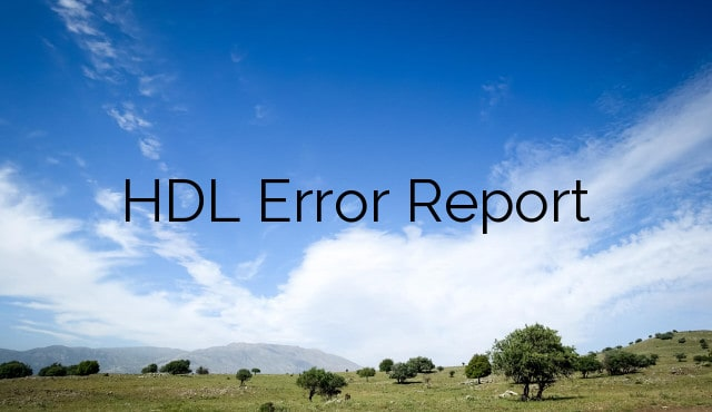 HCM Data Loader Error Report