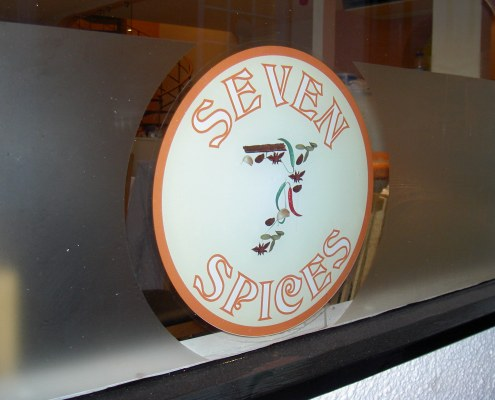 seven spices window graphic