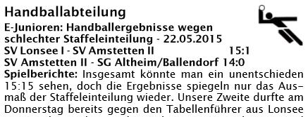 EJ Bericht Handball
