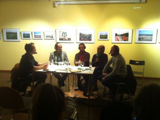 Podcast-Gespräch zu Yesil Kirmizi während des 11mm Fußballfilmfestivals (c) KOOPERATIVE BERLIN_Anna Stecher