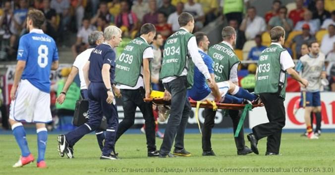 Symbolbild: Verletzung Thiago Motta von Thiago Motta im EM-Finale 2012