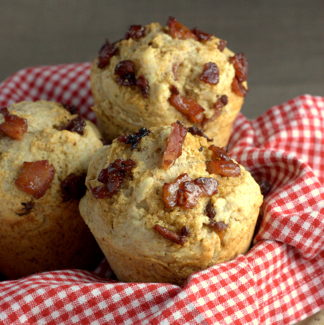 Breakfast Maple Syrup Bacon Muffin
