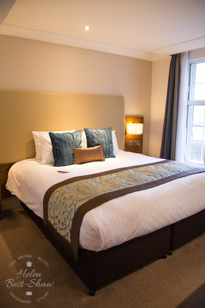 King sized bed at the Amba Hotel Charing Cross