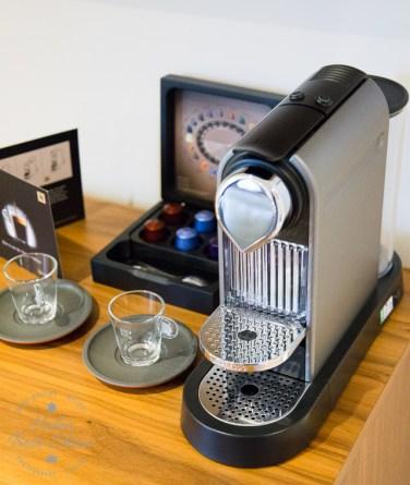 In room Nespresso Machine at the Amba Hotel Charing Cross