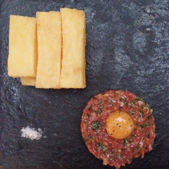 Beef tartare at Bistro by Shot
