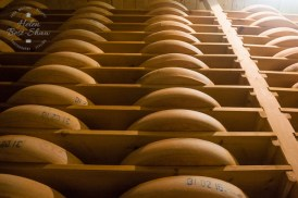 Maturing racks of delicious Comte; possibly the best French cheese?