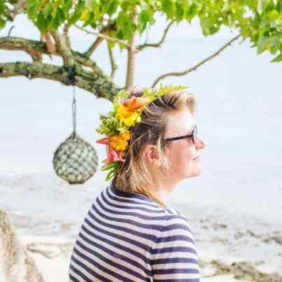 Polynesian flowers in my hair
