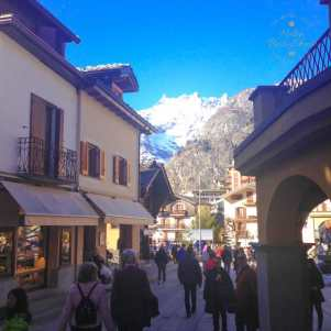 Courmayeur is a charming, attractive historic mountain town.