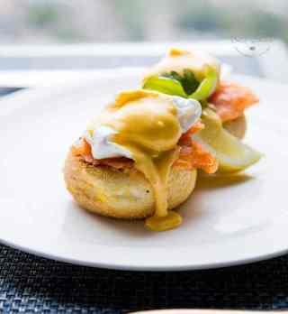 Eggs Royal at Ting Restaurant at the Shangri La London Hotel, at the Shard