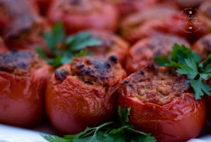Food of Tinos - stuffed tomatoes