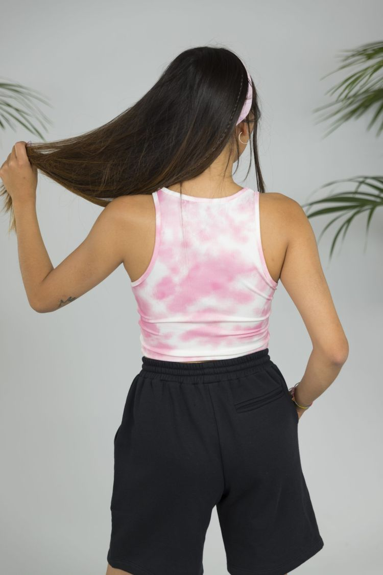 top cropped rosa tie dye Fussione